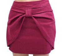 Women's Skirt Korean Style Bowknot Slim Skirt Black 2014 New Women Elegant Hot Sale All Match Free Shipping Simple Design