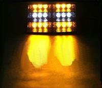 one set 3LED X 6 12V 30w  led flash light warning light  car truck LED Strobe Light HS-51034
