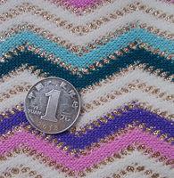 2015 Hot fashion synthetic multicolor glitter wovenpattern fabric material for handbag design