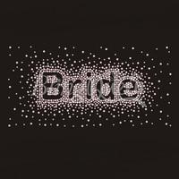 25PCS/LOT Custom Rhinestone Iron On Bride Design