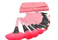 Hot Sale Authentic Professional 24 Pcs Brand Cosmetics Makeup Brushes Make up Tool Brushes Set make up set Pink color