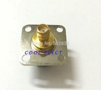 10pcs/lot UHF female jack to SMA female jack 4 Holes flange mount RF adapter connector