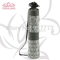 Gaiam Embroidered Yoga Mat Bag NEW Natural 100% Cotton / Khaki