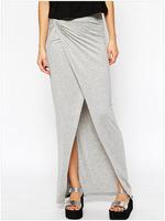 Free Shipping 2015 Sexy Fashion High Waisted Mermaid Chevron Striped Maxi Skirt NA71073 Casual Women Long Skirts