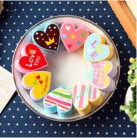 2pcs/lot New creative Romantic Colourful Heart design DIY Multifunction EVA stamp set/funny stamp