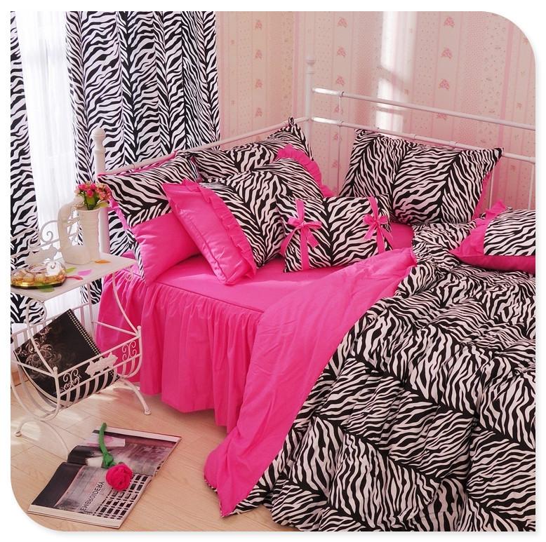 Achetez en gros noir liti re rose en ligne des for Housse de couette leopard rose