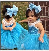 Wholesale free shipping - 2014 autumn girl Snow and ice colors dress Princess sleeveless white gauze skirt