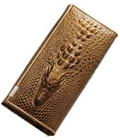 new women wallets Genuine leather wallets for women Fashion brand 3D Crocodile leather clutch wallets women purses and handbags