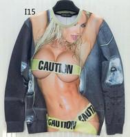 [Magic] Sexy Wet body beautiful lady casual hoodie sweatshirts women round neck pullovers hoodies I15 free shipping