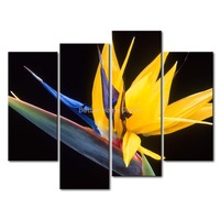3 Piece Yellow Orange Wall Art Painting Yellow Strelitzia Print On Canvas The Picture Flower 4 5 Pictures