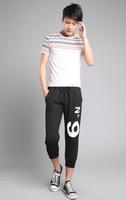 Hot 2015 Fashion Print Personality Trousers Sports Drawstring Anke-Length Cotton Pants Hip Hop Long Plus Size Running Sweatpants