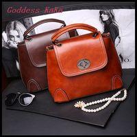 Women/Lady Handbahs Compound cowhide simple fashion women shoulder bags Tote bolsas feminina casual messenger bag GG016