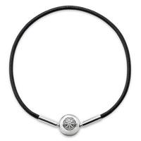 Hot sale 16-23CM Charm Black Leather Rope Bracelet with Clasp Bracelet Diy Bracelets for Women Men Valentine's Day Gift Jewelry