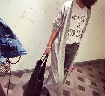 Европа улица стиль кардиганы трикотаж свитера женщины негабаритных кардиган винтажный длинная свитера тонкий открытая пальто