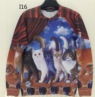 [Magic] Circus Magic Cats women lovely animal sweatshirts 3d sweatshirt good quality print casual hoodies I16 free shipping