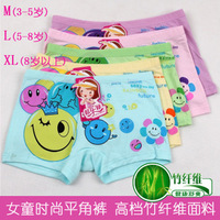 Comfortable Bamboo Fiber Children Briefs Dot Print Short pants girls calcinhas underwear princesses  5PCS/LOT