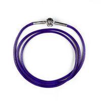 Fashion Jewelry purple cowhide Leather Necklaces for women men fashion diy jewelry leather chains four size 53cm 60cm 70cm 80cm