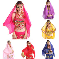Belly Dance Skirt Woman Dance Costume With Hip Scarf  Belly Dancing Clothes Headband Belly Dance Skirt 8 Colors Belly Dance