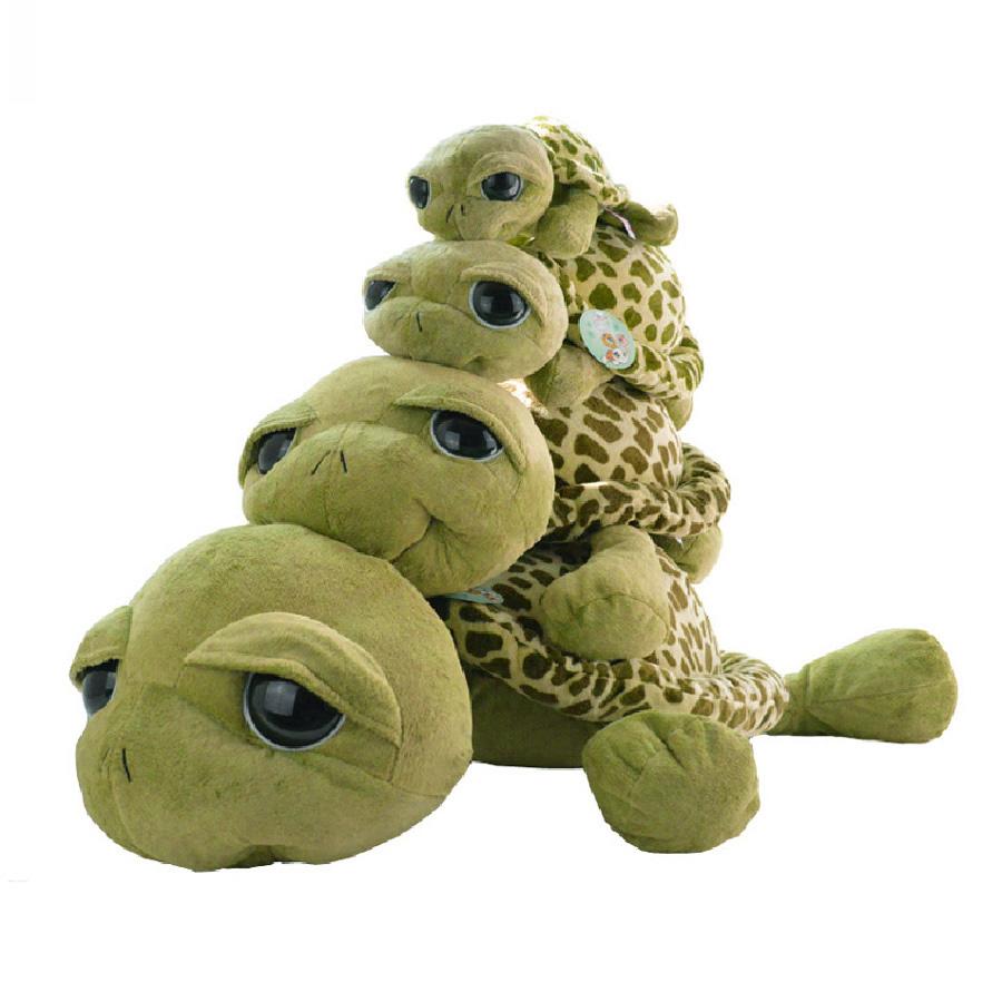large size 40 cm wholesale Creative army green big sea turtle plush toys stuffed animals pillow cushion doll Christmas gift(China (Mainland))