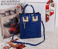 2014 brand design women alligator leather tote bag with shoulder strap NO.6001