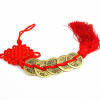 Pure copper medallion Chinese knot Characteristics small gift Prosperous wealth 2pc/lot