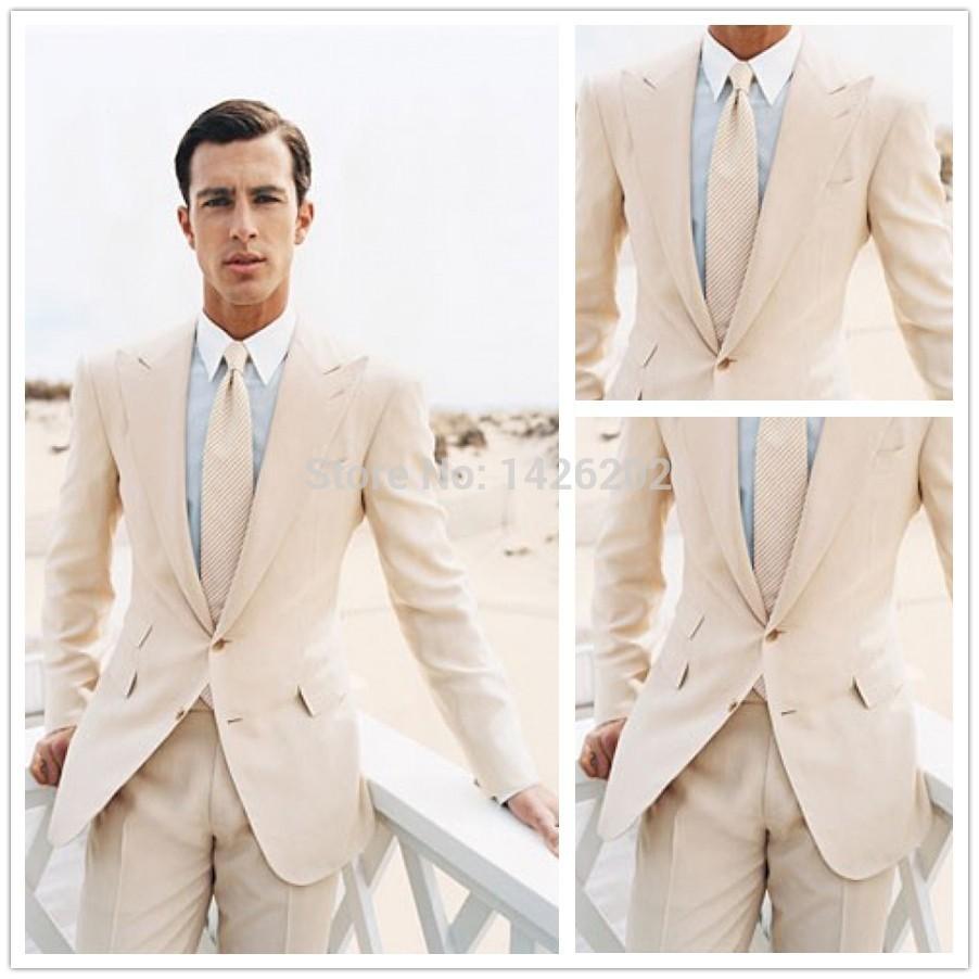 Mens chemises de lin pour le mariage de plage