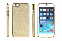 For iPhone 6 / 6 plus Luxury Electroplated Gold Glitter Bling Shining Plastic hard case 8 colors