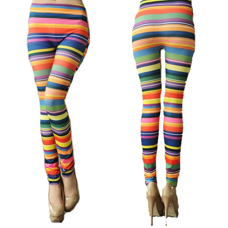 Colored Striped Leggings Colorful Striped Leggings