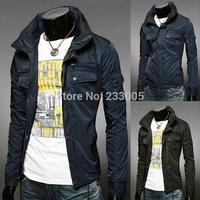 2015 Fashion Stylish Jaqueta Masculina Cool Jackets For Men Chaqueta Hombre Mens Jackets And Coats Chaquetas Black/Blue M-XXL