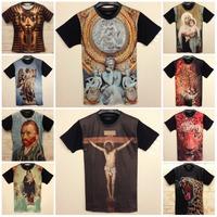 TOP FASHION 2015 Summer New Unisex Tops Two Side Short Sleeve T Shirt 3D Printed High Quality Tee T-Shirt Brand Design M-XXL