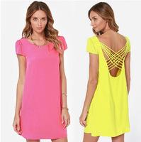HOT Casual Women Bandage Dress Vestido de festa Renda longo Vestidos casual free shipping summer dress vestidos femininos