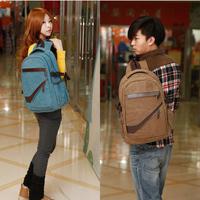 Men's Canvas Backpack schoolbag retro School Backpack travel wind men women lovers package