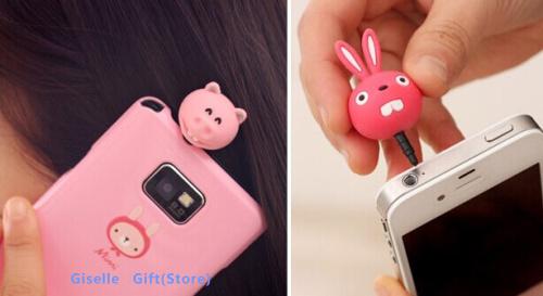 5 Designs Kawaii Animals 3.5mm Smart Phone Earphone Plug Jack Jacket Stopper Stopple 3.5mm Phone Plug Hole Cap Jack Socket(China (Mainland))