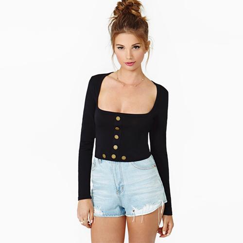 Shirt Buttons Designs Design Style t Shirt Women