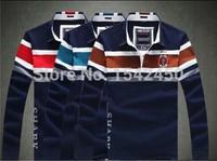 2014 fashion Fall and Winter men's striped clothing Shark brand long sleeve t-shirt cotton paul shirts 868