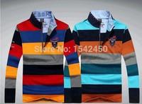 2014 fashion Fall and Winter men's striped clothing Shark brand long sleeve t-shirt cotton paul shirts 878