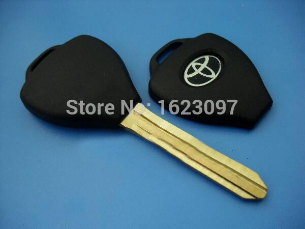 Best quality 40pcs/Lot Toyota blank key for Toyota electronic transponder key shell toy43(China (Mainland))