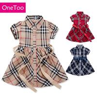 Girls' skirts small lattice British style of Scotland style