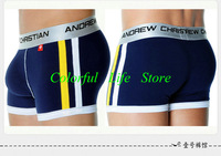 Hot Sale (50pcs/lot) DHL Shipping Fashion Andrew Christian Men Cotton Underwear Boxer Shorts
