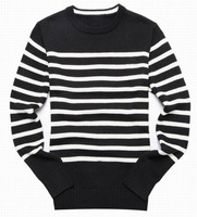 Hot Selling Mens Casual Striped Sweater Fashion Winter Cotton Knitted Top Brand Leisure Sweaters Spring Autumn Black Grey