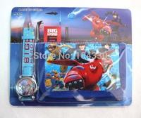job lots 10pcs Big Hero 6  wrist watches 100pcs watches + 100pcs wallets