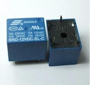 5PCS/LOT SONGLE Power Relay SRD-12VDC-SL-C T73 PCB Type 12V DC(China (Mainland))
