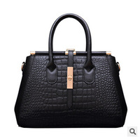 2015 New Women Messenger Bags Fashion Genuine Leather Handbag alligator Shoulder Bag hasp Women Leather Handbag Tote