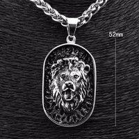 316L Stainless Steel Men's Rocker Biker Lion Pendant Necklace Chain p3023