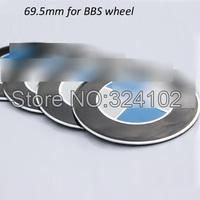 50pcs Hard Alloy Aluminum Wheel Center Sticker 3D for BBS Wheel Hub 70mm