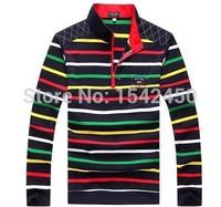 2014 fashion Fall and Winter men's striped clothing Shark brand long sleeve t-shirt cotton paul shirts A858