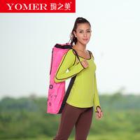 Yoga Mat Gym Bag Coffee Pink Waterproof Harness Large Pockets