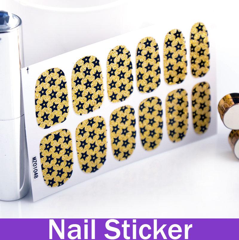 2014 New Black Glitter Grid Pattern shilak christmas nail polish Gold with Stars(China (Mainland))