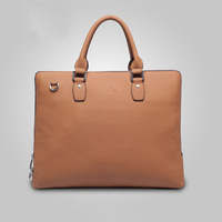 Men's Versatile Solid Genuine Leather Shoulder Bag Laptop Briefcase Business Bag Tote Handbag 9921-1