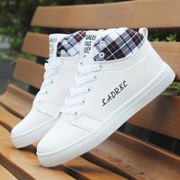 Autumn Winter shoes Men Casual elevator Flats Fashion plus velvet cotton-padded shoes sport  PU 12.29